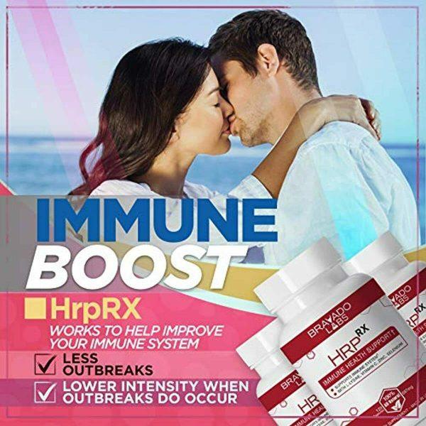 Premium Herpes Treatment Supplement - HrpRX - with L-Lysine, Vitamin C and Zinc  1