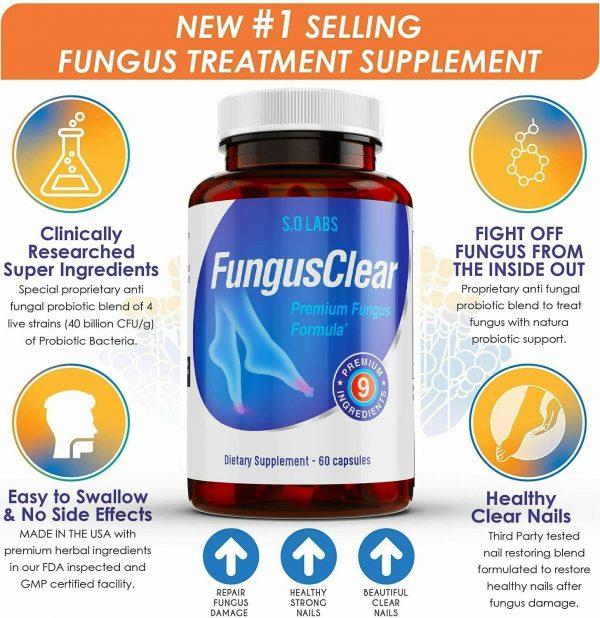 Fungus Clear Vitality Health Probiotic Toenail Supplement Pills - 360 CAPSULES 1