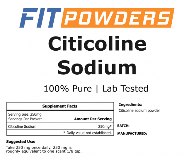 Citicoline Sodium (CDP Choline) by FitPowders 100% Pure with Scoop (Variations) 2