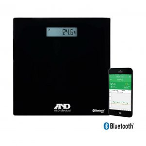 A&D Medical Wireless Connected Weight Scale, Black (UC-352BLE) Up to 450 Pound