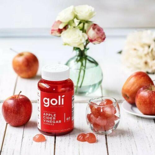 Goli Nutrition Apple Cider Vinegar Gummies Supplement, 60 Pieces, Exp 2022 10