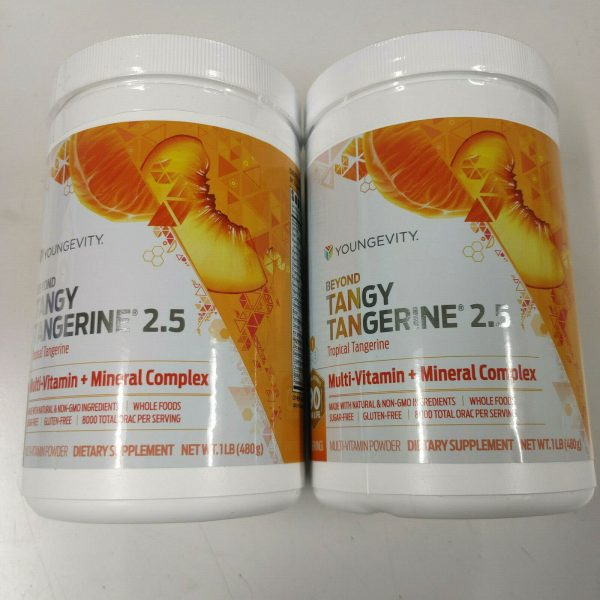 Youngevity Dr. Wallach Beyond Tangy Tangerine BTT 2.5 2 Pack Canisters