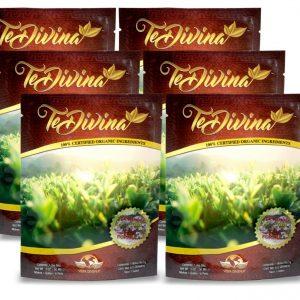 (6) (AUTENTICO) Te Divina Vida divina  Original Tea  Detox 100% ORGANIC (6) 1