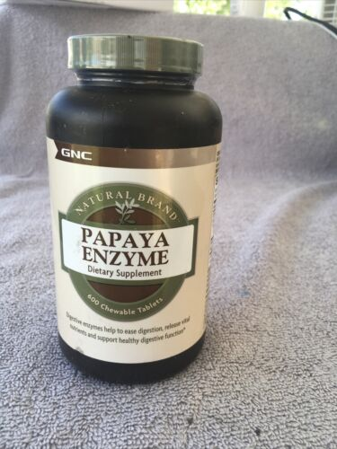 NEW! GNC Papaya Enzyme Natural Brand 600 Chewable Tablets Expires 2022