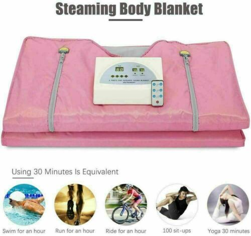 Far Infrared Sauna Blanket Detox Slimming Suit Home Spa Weight Loss Machine Set 2
