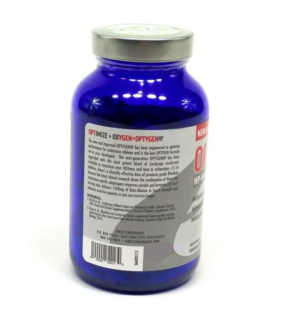First Endurance Optygen HP High Performance Supplement 120-Capsules Increase VO2 4