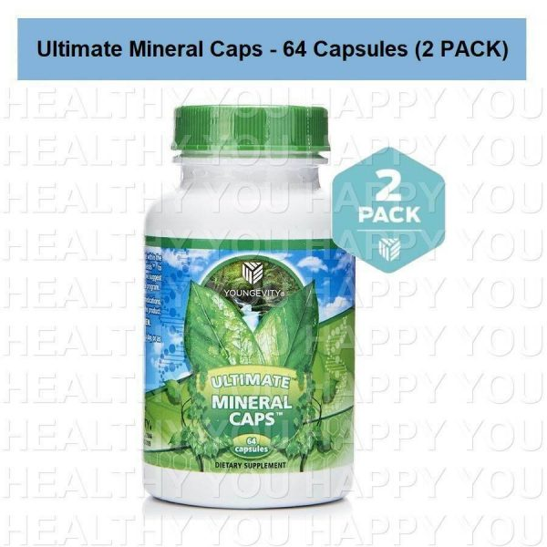 Ultimate Mineral Caps - 64 capsules (2 PACK) Youngevity