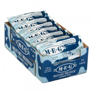 MEG - Military Energy Gum | 100mg caffeine pc | Arctic Mint 24 Pack (120 Count)