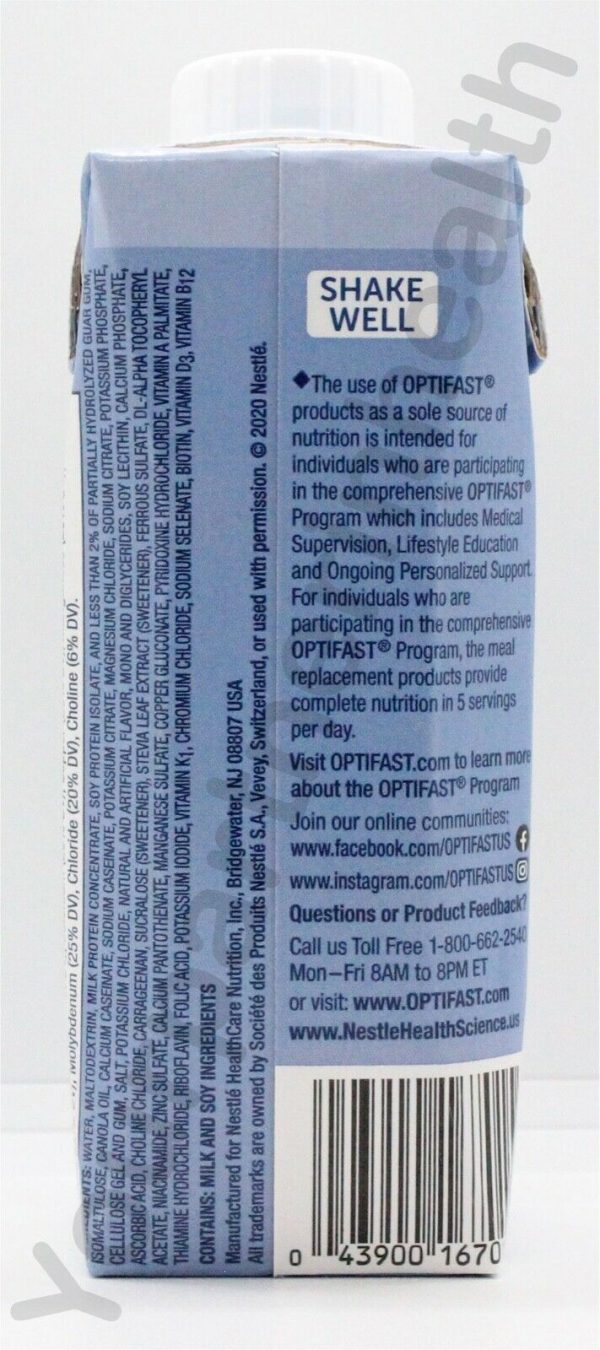 OPTIFAST 800 READY-TO-DRINK SHAKE - 1 CASE - VANILLA - 24 SERVINGS 2