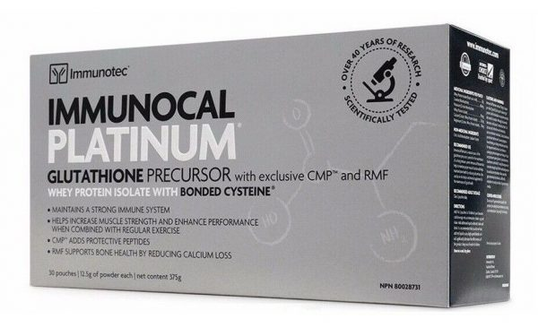 IMMUNOCAL PLATINUM 30 PK , Source of Glutathione as Low as $109.75/box