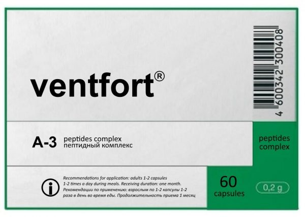 A-3 Ventfort - Khavinson Natural Blood vessels peptide 60 capsules