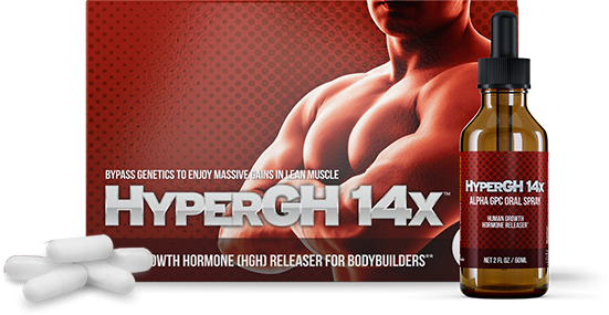 1 HyperGH 14x Box (Tablets) + 1 Bottle (Spray) Combo Muscle Growth Supplement 3