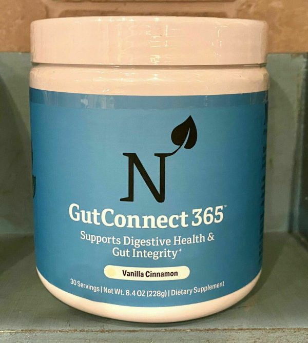 Nature MD GutConnect 365 8.4 OZ Vanilla Cinnamon Digestive Health  Exp.3/23