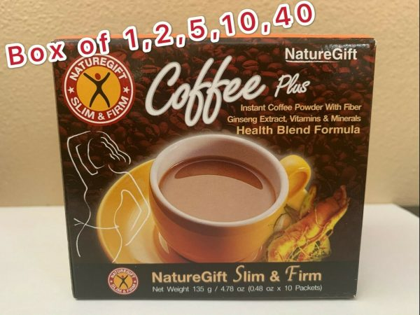 NatureGift COFFEE PLUS INSTANT coffee powder w/Fiber Ginseng, Vitamins 10bag/Box