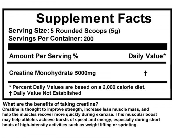 Creatine Monohydrate 100% Pure Powder 4000g (8.8 lb) Micronized by FDC NUTRITION 5