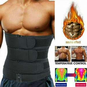 Men Sweat Sauna Waist Trainer Weight Loss Neoprene Corset Cincher Body Shaper SB 1