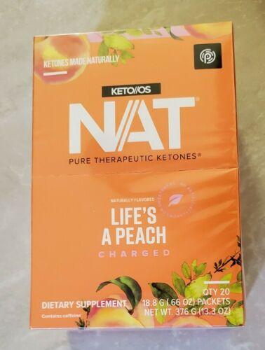 Pruvit Keto OS NAT Life's a Peach Charged unopened box