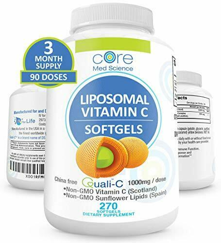 Core Med Liposomal Vitamin C Softgels 1000mg/dose - Quali®-C 3 Month