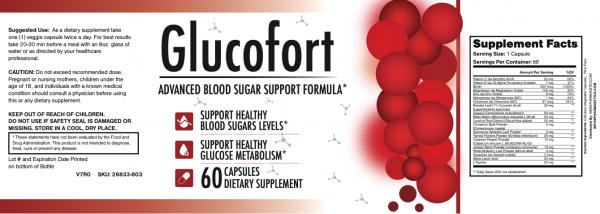 (5 Bottles) GlucoFort Advanced Blood Sugar Support Formula - 60 Capsules 2