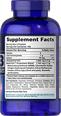 Puritans Pride Double Strength Glucosamine, Chondroitin & Msm Joint Soother, 480 2