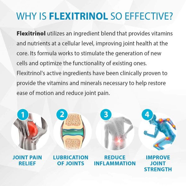 Flexitrinol Joint Health Formula - 1 Bottle - 100% Natural - Reduces Joint Pain 2