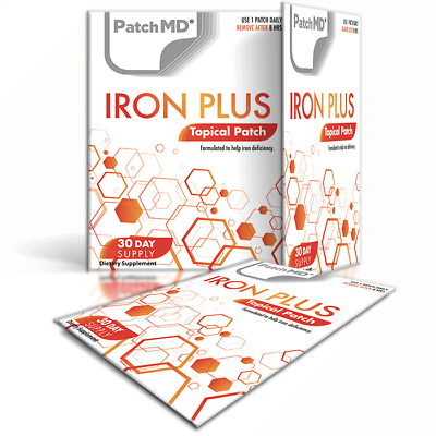 PatchMD Iron Plus Topical Patch vitamin Supplement 60 Day BEWARE OF FAKES