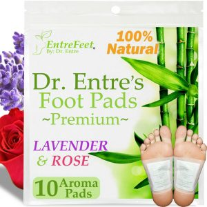 Dr. Entre's Detox Foot Pads(10 Pack) Body Patch For Cleansing Toxins Health Care