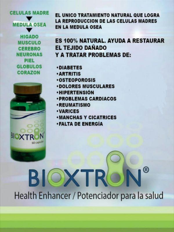 Bioxtron 60 caps X4 Frascos, bioxcell, celulas madre, madre cell,  BIOXTRON 2