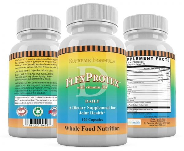 FlexProtex D Natural Joint Supplement Herbal Pain Relief Flex Protex Turmeric 5