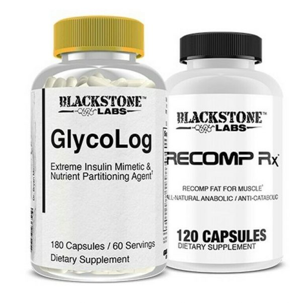 Blackstone Labs SUPPORT STACK Recomp RX + Glycolog Build Muscle & Lose Fat Stack