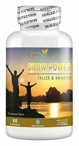 Grow Power - Support Healthy Growth for Children (10+) &Teens, 60 Vegan Capsules