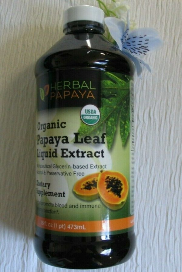 Papaya Leaf Liquid Extract. Natural Blood Platelet level Boost NEW