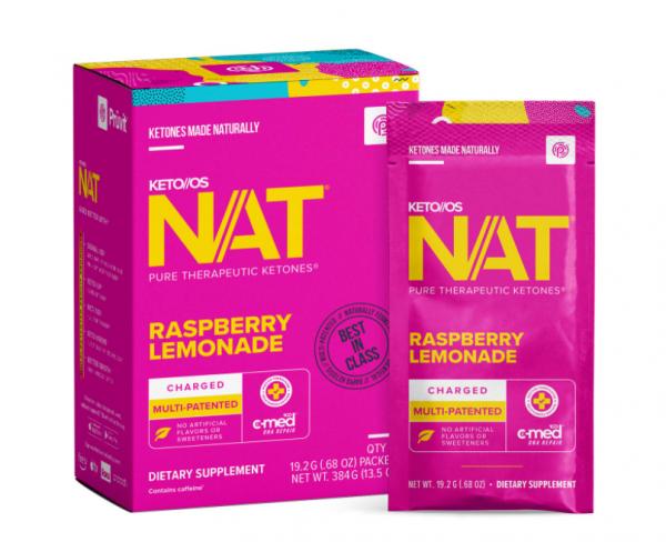 Pruvit NAT KETO//OS Raspberry Lemonade 20 Packets New Box Sealed 07/2022