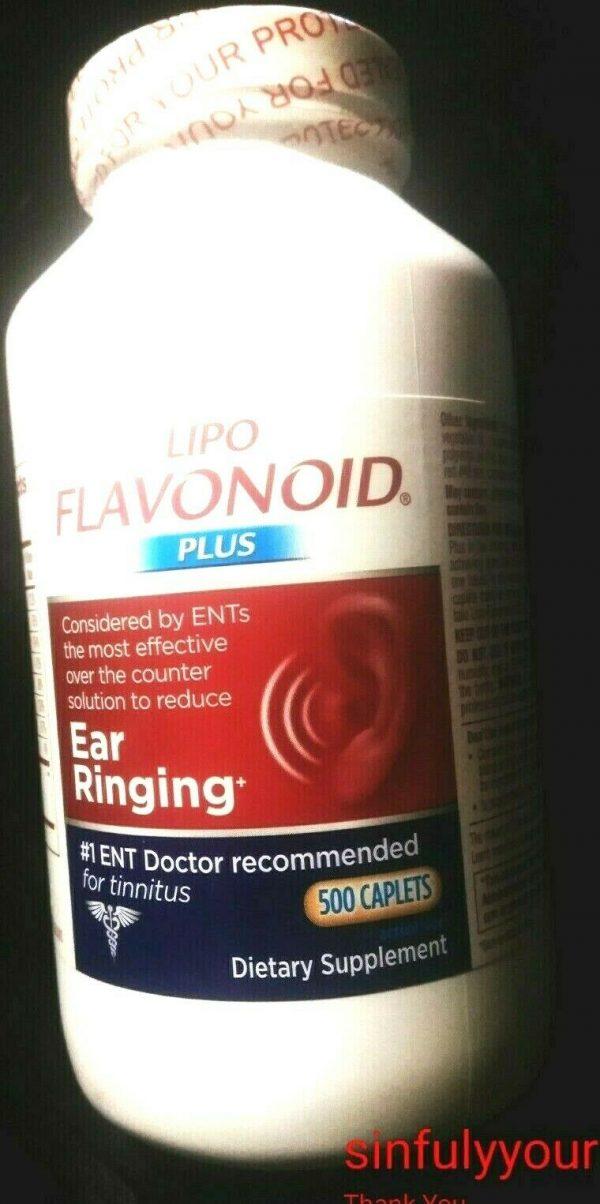 LIPO FLAVONOID PLUS...EAR RINGING DIETARY SUPPLEMENT...500 CAPLETS..NOV 2023
