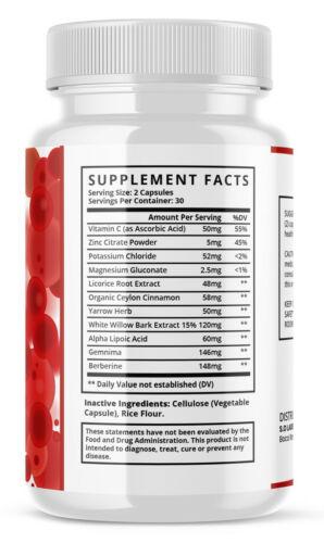Glucofort Advanced All-Natural Blood Sugar Support Formula - 5 Pack 1
