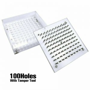 Capsules Filling Machine Manual Glass 100 Hole Size 4 5 with Tamper Tool