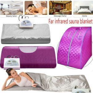 110 V Far Infrared Sauna Blanket Digital Controller Slimming Weight Detox Spa US