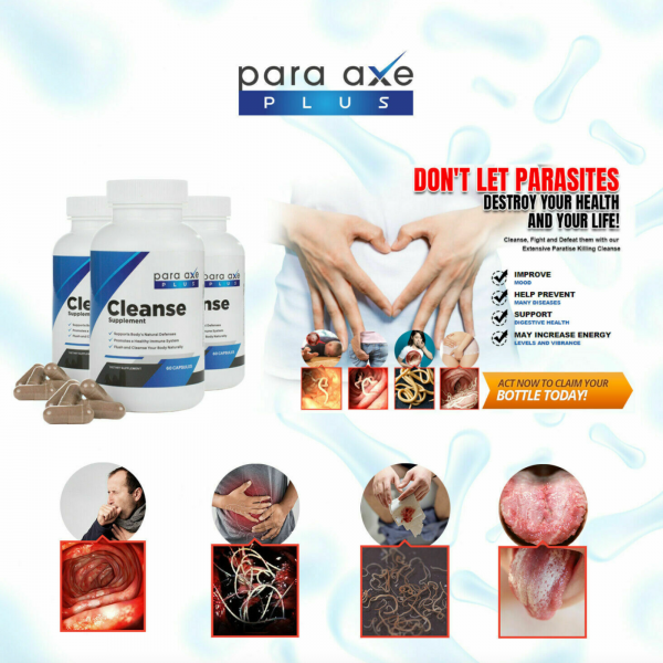 3 Pack- Para-Axe Plus Cleanse Eliminate Toxic & Harmful Organisms From Your Body 2