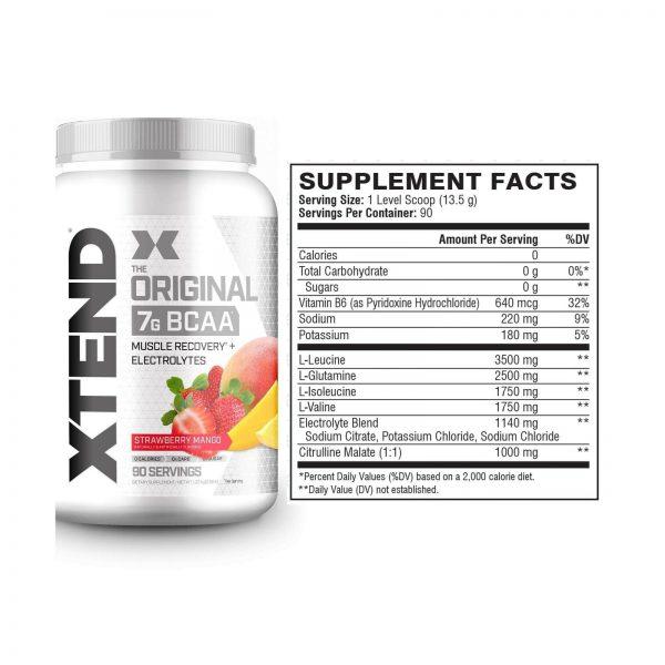 XTEND Original BCAA Powder Strawberry Mango   Sugar Free Post Workout Muscle ... 1