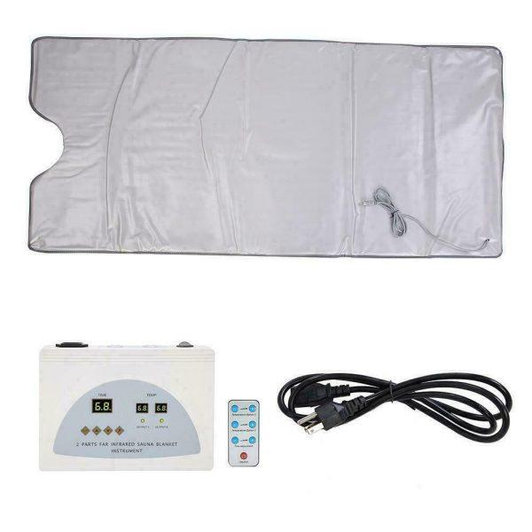 Far Infrared Sauna Blanket 2 Zone Slimming Weight Digital Controller Spa Beauty 10