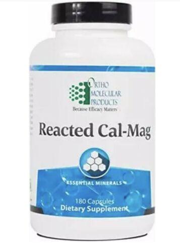 Ortho Molecular Reacted Cal-Mag 180 Capsules Exp. 2/23 FRESH & FAST