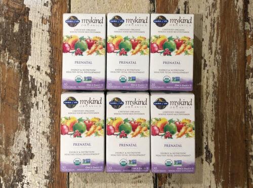 6x Garden Of Life My Kind Organics Prenatal Multivitamin 30 Tabs Each, Exp 7/22+