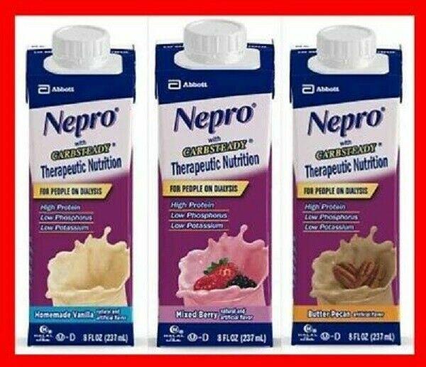 Abbott Nepro Carb Steady Mixed Berry  8 oz resealable 24 pk case 1