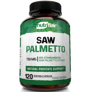 Saw Palmetto Berry Extract 750mg, 120 Capsules Natural Prostate Supplement Pills 1