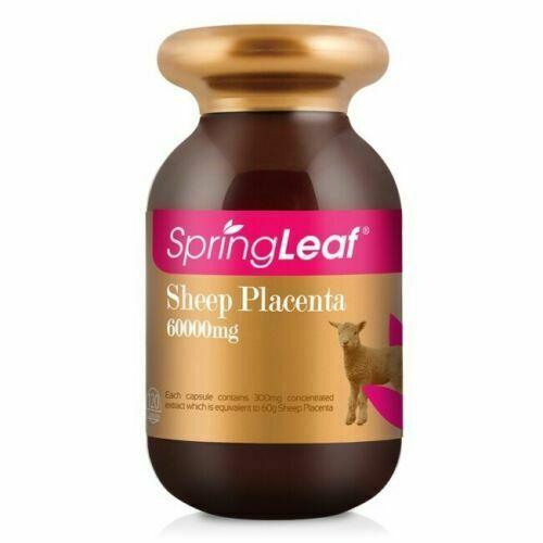 3 x New Springleaf Sheep Placenta 60000mg 120 Capsules Spring Leaf 1