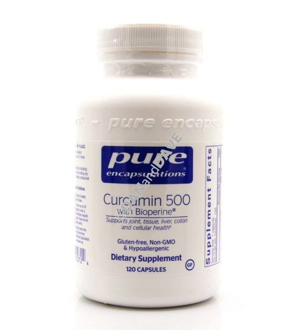 Pure Encapsulations Curcumin 500 with Bioperine 120 vcaps