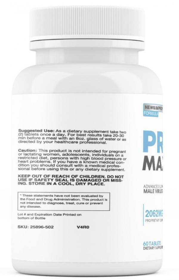 2 Bottles Provia Max - Male Virility & Vitality Support Enhancement PROVIA MAX 1