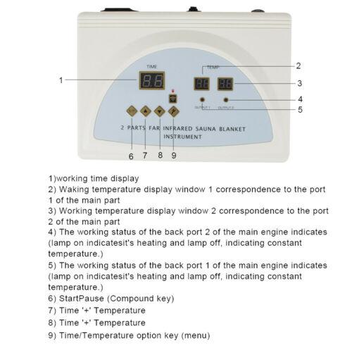 USA Digital Controller Far Infrared Sauna Blanket Slimm Weight Detox Spa Fitness 8