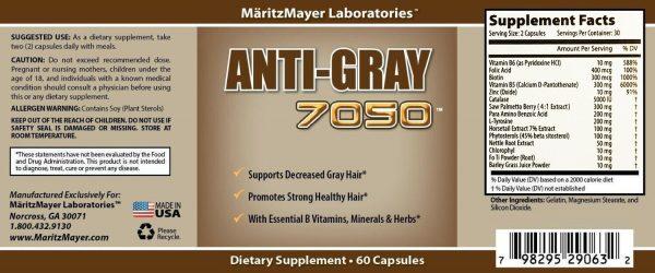 Original Anti Gray Hair 7050 60 Capsules (Pack of 12) 2