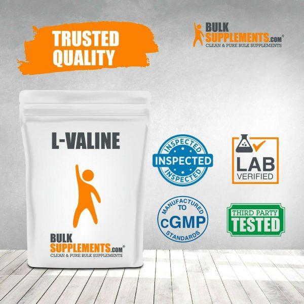 BulkSupplements.com L-Valine Powder - BCAAs Amino Acids - Essential Amino Energy 4
